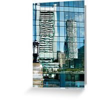 Shimmering View of the Federal Reserve Bank in Boston  Greeting Card