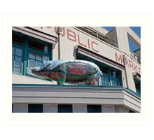 Pike Place Market in Seattle, USA Art Print