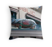 Pike Place Market in Seattle, USA Throw Pillow
