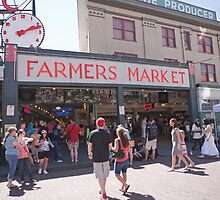 Pike Place Public Market in Seattle, USA by Keith Larby