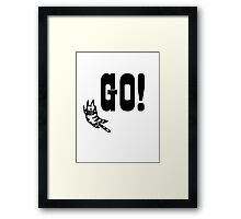 Go Tiger Framed Print