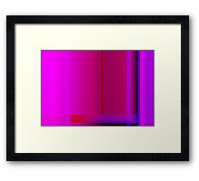 Pink Burgundy Purple Lines Abstract Framed Print