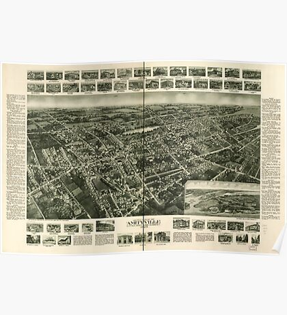 Panoramic Maps Aero-view of Amityville Suffolk County Long Island NY 1925 Poster