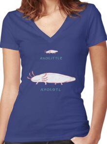 Axolittle Axolotl Women's Fitted V-Neck T-Shirt