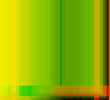 Lime Green Yellow Orange Lines Abstract by Natalie Kinnear