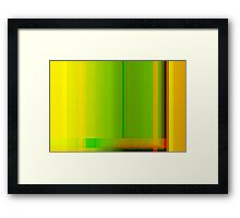 Lime Green Yellow Orange Lines Abstract Framed Print