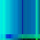 Blue Turquoise Green Lines Abstract by Natalie Kinnear