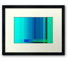 Blue Turquoise Green Lines Abstract Framed Print
