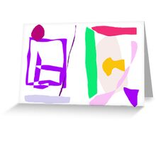 Simple Abstract  Greeting Card