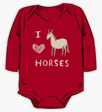 I ❤ Horses One Piece - Long Sleeve