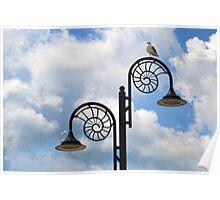 Birds Eye View Of Lyme,  Dorset. Poster