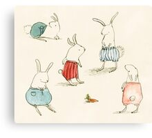 If Rabbits Wore Pants Canvas Print