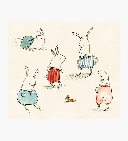 If Rabbits Wore Pants Photographic Print