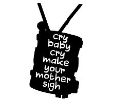 Engaging The Cry Baby Photographic Print