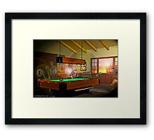 Pool Ghosts Framed Print