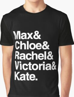 Life Is Strange Character Names Graphic T-Shirt
