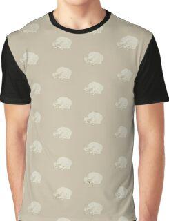 White Dog Sleeping Graphic T-Shirt