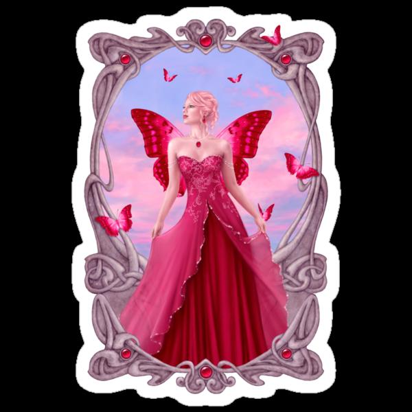 Ruby Birthstone Fairy by Rachel Anderson