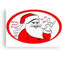 Heavy metal Santa Claus rocks this Xmas! Canvas Print