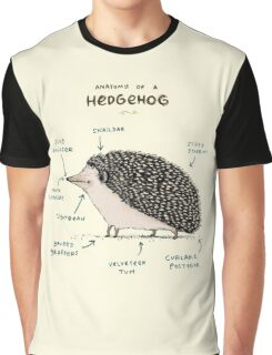 Anatomy of a Hedgehog Graphic T-Shirt