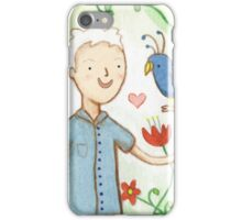 Sir David Attenborough & a Parrot iPhone Case/Skin