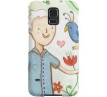 Sir David Attenborough & a Parrot Samsung Galaxy Case/Skin