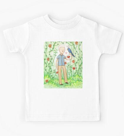 Sir David Attenborough & a Parrot Kids Tee