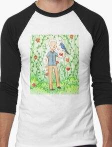 Sir David Attenborough & a Parrot Men's Baseball ¾ T-Shirt