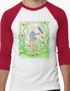 Sir David Attenborough & a Parrot Men's Baseball ¾ T-Shirt