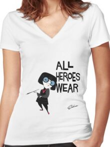 NO CAPES Women's Fitted V-Neck T-Shirt