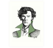 The Sherlock Variations (Green) Art Print