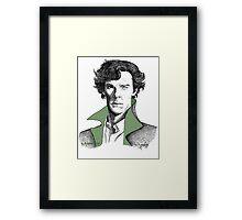 The Sherlock Variations (Green) Framed Print