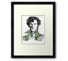 The Sherlock Variations (Green) Framed Print