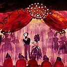 The final Bow, from Phantom of the Opera, watercolor by Anna  Lewis