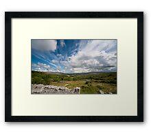 Irish cloudscape  Framed Print