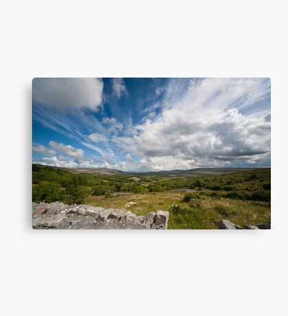Irish cloudscape  Canvas Print