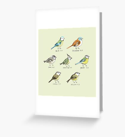 The Tit Family Greeting Card