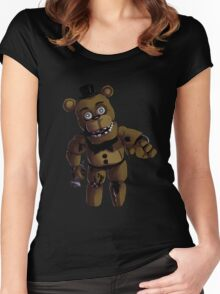 FNAF 2 Withered Freddy Fazbear Women's Fitted Scoop T-Shirt