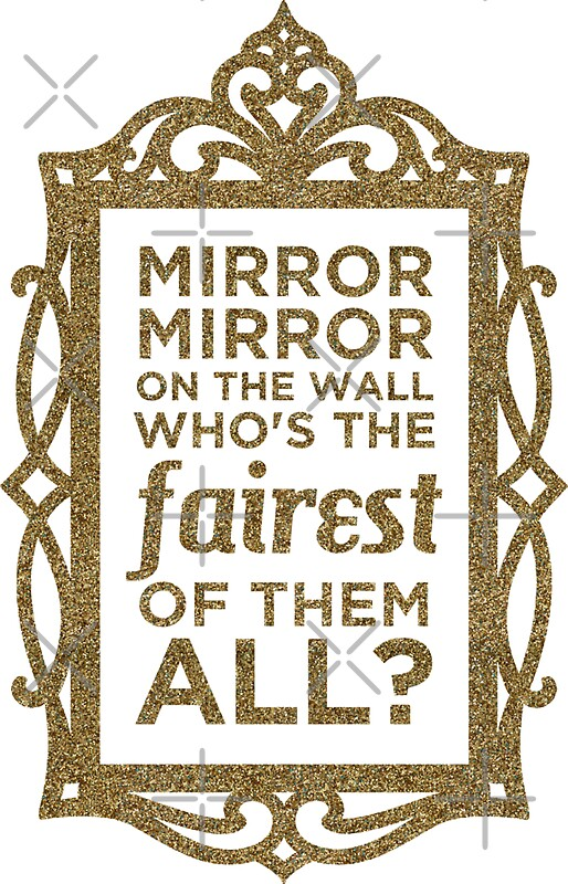 quot mirror mirror on the wall quot stickers by heroics redbubble