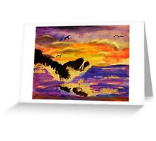 Choppy waters, watercolor Greeting Card