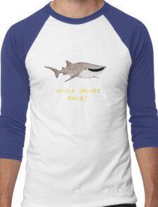 Whale Sharks Rule! Men's Baseball ¾ T-Shirt