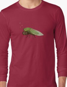 Cicada Playing a Squeezebox Long Sleeve T-Shirt