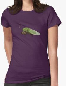 Cicada Playing a Squeezebox Womens Fitted T-Shirt