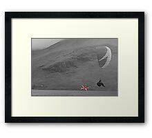 The Union Jack Paraglide Framed Print