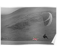 The Union Jack Paraglide Poster