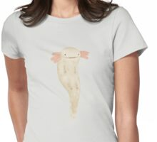 Floating Axolotl Womens Fitted T-Shirt