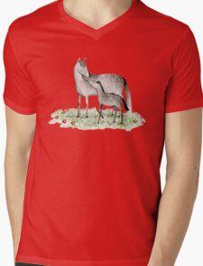 Mare & Foal Mens V-Neck T-Shirt