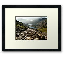 Snowdon Path Framed Print