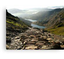 Snowdon Path Canvas Print