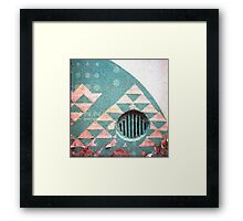 Circle in a field of triangles. Framed Print